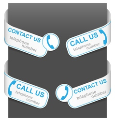 left and right side signs - contact us vector image vector image