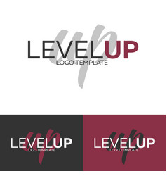 level up logo logo template logotype vector image vector image