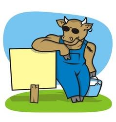 milk cattle vector image vector image