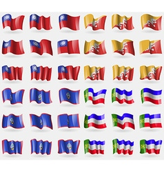 Myanmarburma bhutan guam khakassia set of 36 flags vector