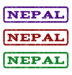 Nepal watermark stamp vector