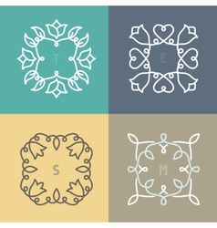outline frame set vector image vector image