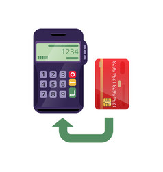 Payment process with credit card vector