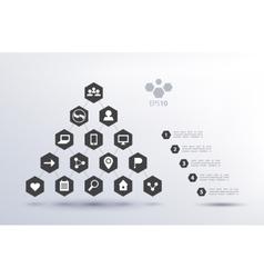 Pyramid social network infographics vector
