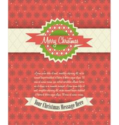 Retro Christmas Card Design vector image vector image