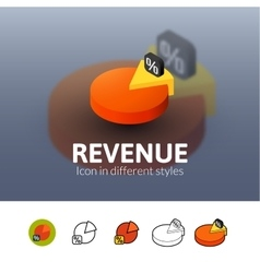 Revenue icon in different style vector