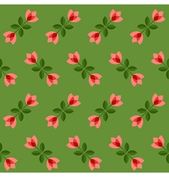 Seamless floral pattern geometric flowers vector