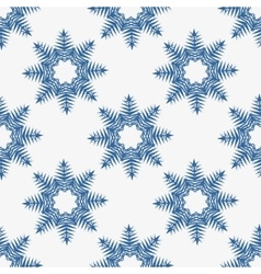 Snowflakes seamless on white background vector image