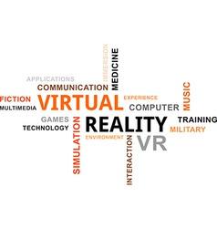 Word cloud virtual reality vector