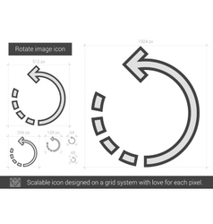 Rotate image line icon vector