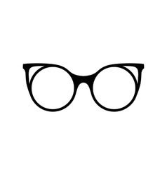 Retro glasses sunglasses black silhouettes eye vector