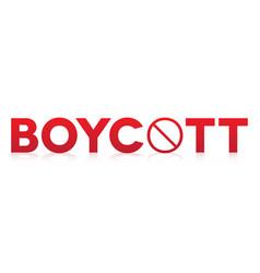 Boycott cconcept theme vector