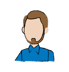 Profile man character business employee cartoon vector
