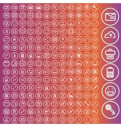 Set of icons for web and user interface design vector