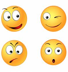 smiley faces vector image