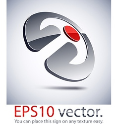 3d modern penetration logo icon vector