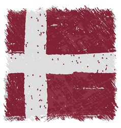 Flag of denmark handmade square shape vector