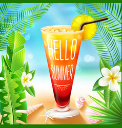 Summer design with cocktail vector