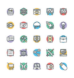SEO and Internet Marketing Cool Icons 1 vector image