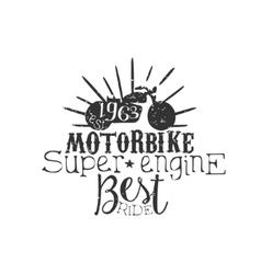Motorbike super engine vintage emblem vector