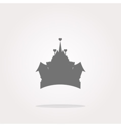 Medieval royal castle - web icon button vector