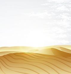 Desert landscape with blue sky vector