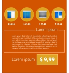 Ad layout for sale of windows with shutters vector