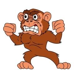 Angry monkey 2 vector