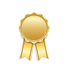 Award ribbon gold icon white vector