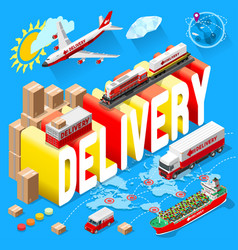 Banner for delivery services and web e-commerce vector