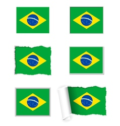 Brazil flag set vector