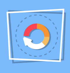 Circle arrow diagram icon reload web button vector