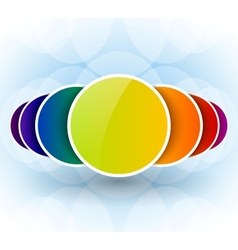 Colorful circles abstract background vector image
