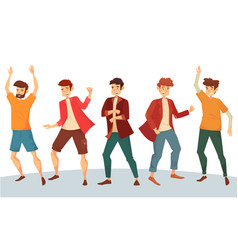 Dancing man or boy dancer at disco party vector