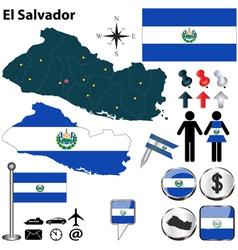 El salvador map vector