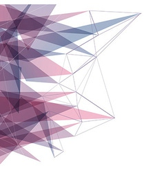 Geometrical colorful triangle connected background vector