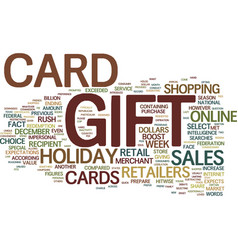 Gift card rush will boost holiday sales figures vector