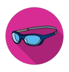 Glasses for swimming icon in flat style isolated vector
