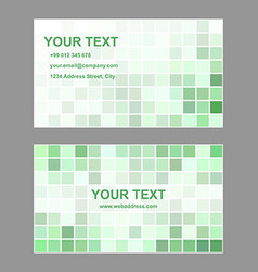 Green square design business card template vector