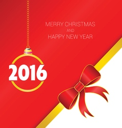 happy new year with bow vector image vector image
