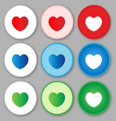 Heart sign icon love vector image