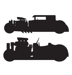 Hot rod car vector
