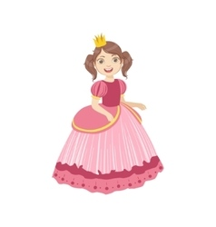 Little Girl With Ponytails Dressed As Fairy Tale vector image vector image