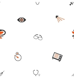Medical Tools Seamless Flat Wallpaper vector image