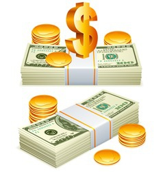 money packs vector image vector image