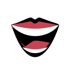 Mouth lips comic image vector