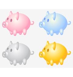 Piggy bank vector image vector image