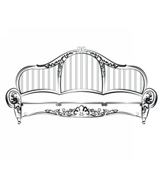 Royal elegant sofa with classic ornaments vector