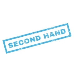 Second hand rubber stamp vector