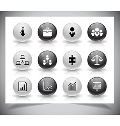 Set of business buttons vector